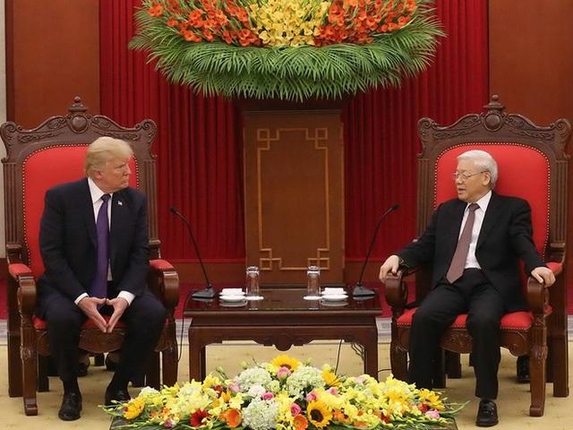 Chủ tịch nước Nguyễn Phú Trọng, Tổng thống Donald Trump trao đổi thư