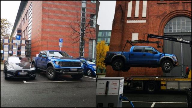Siêu xe Lamborghini bị cẩu đi vì tranh chỗ đỗ của xe điện - 2