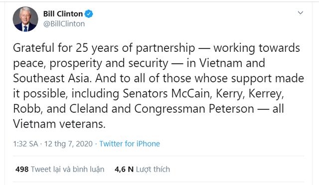 Cựu Tổng thống Clinton: