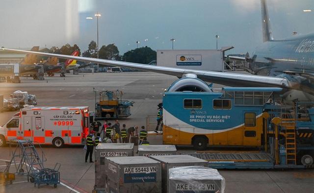Máy bay đưa bệnh nhân 91 về Anh đón 340 người Việt hồi hương - 1