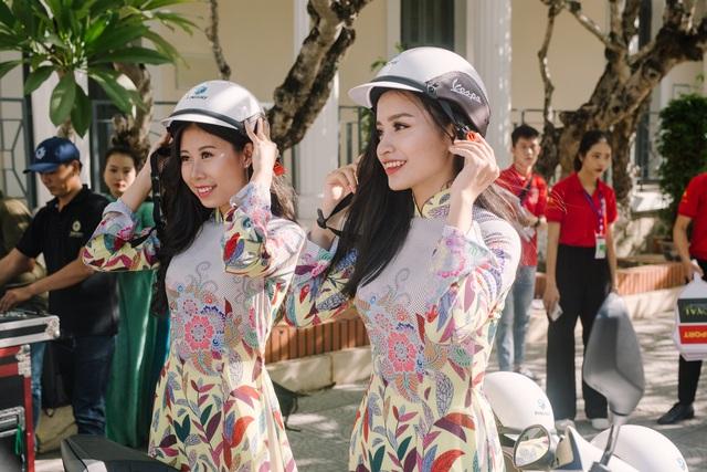 Nữ sinh xinh đẹp trổ tài ở vòng Bán kết Hoa khôi Đại học Huế 2020 - 1