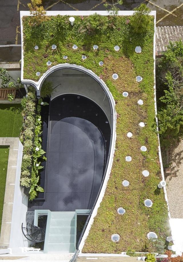 Độc đáo căn biệt thự đổ đất trồng cây xanh trên mái nhà để tránh nóng - 5