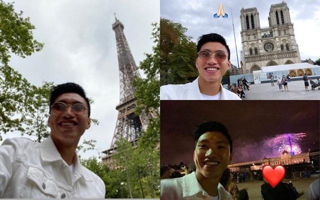 Đoàn Văn Hậu du lịch Paris trước ngày về nước - 1