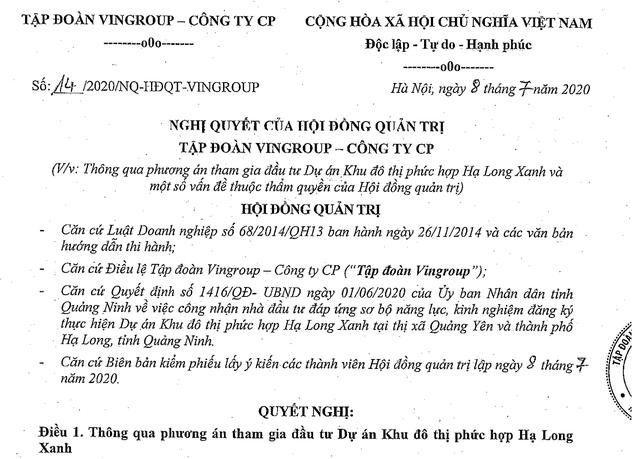 Tỷ phú Phạm Nhật Vượng quyết siêu dự án 10 tỷ USD tại Quảng Ninh - 1