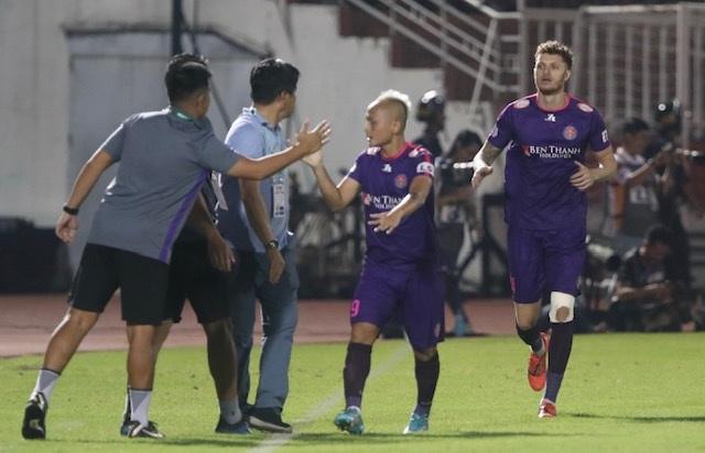 Thắng đậm Nam Định, Sài Gòn FC vững ngôi đầu V-League - 7