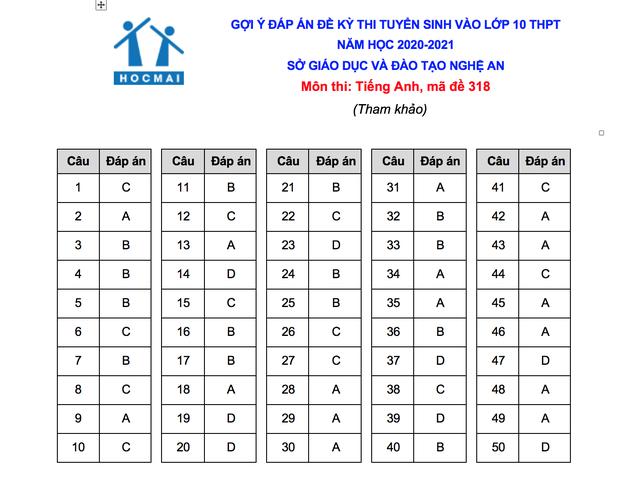 Gợi ý giải đề thi môn tiếng Anh vào lớp 10 của tỉnh Nghệ An - 5