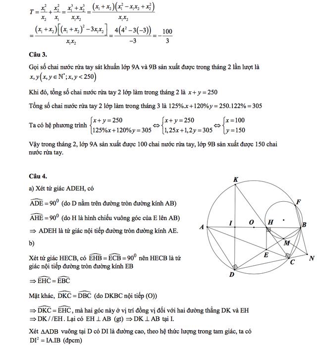 Gợi ý giải đề thi môn Toán vào lớp 10 của Nghệ An - 3