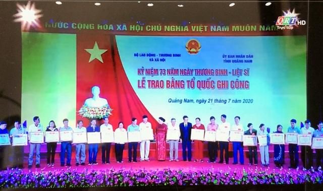 Truyền hình: Lễ trao 73 Bằng Tổ quốc ghi công tại Quảng Nam - 3