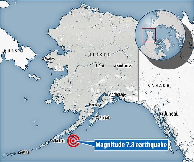 Động đất 7,8 độ Richter ở Alaska, Mỹ cảnh báo sóng thần - 1