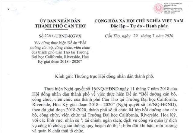 Cần Thơ tạm dừng đưa cán bộ đi Mỹ học tập vì dịch Covid-19 - 1
