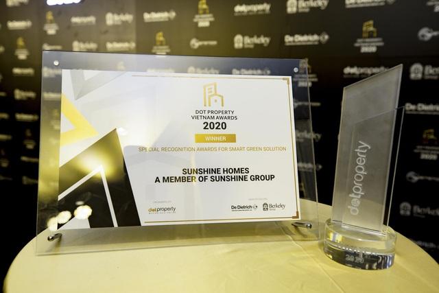 Sunshine Homes chiến thắng vang dội tại Dot Property Vietnam Awards 2020 - 2