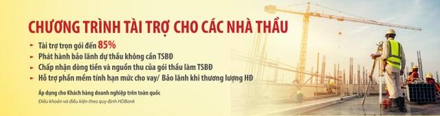 HDBank dành nhiều ưu đãi vượt trội cho các nhà thầu - 3
