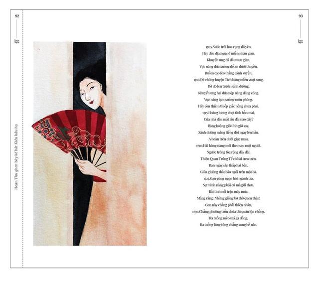 Bộ tranh minh họa truyện Kiều của nữ sinh Hà Tĩnh gây sốt - 11