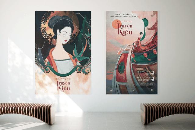 Bộ tranh minh họa truyện Kiều của nữ sinh Hà Tĩnh gây sốt - 3
