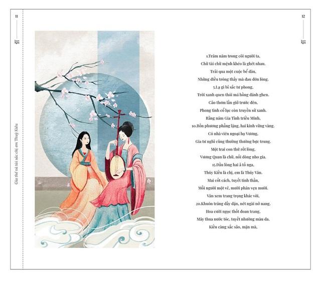 Bộ tranh minh họa truyện Kiều của nữ sinh Hà Tĩnh gây sốt - 4