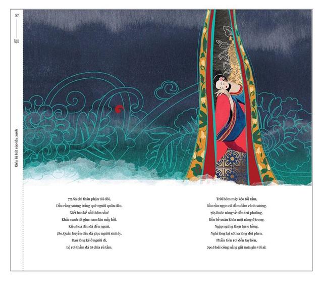 Bộ tranh minh họa truyện Kiều của nữ sinh Hà Tĩnh gây sốt - 7