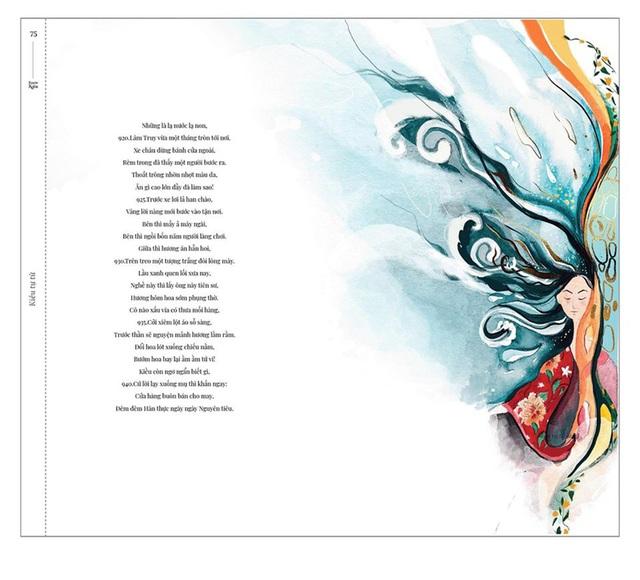 Bộ tranh minh họa truyện Kiều của nữ sinh Hà Tĩnh gây sốt - 8