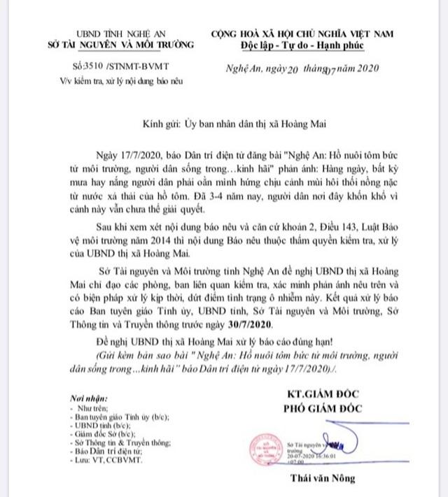 """Sở TNMT Nghệ An chốt hạn xử lý vụ xả thải """"bức tử"""" người dân và bãi biển - 1"""