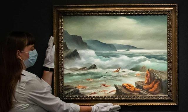 Bộ ba bức tranh khắc họa cảnh biển có giá hơn 35 tỷ đồng - 3