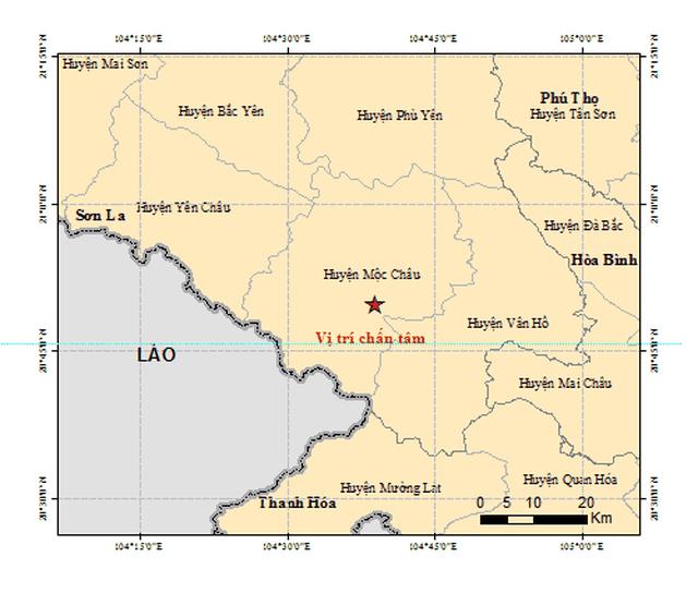 2 ngày xảy ra 6 trận động đất ở Sơn La - 1