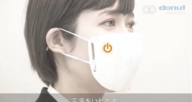 Công ty Nhật Bản phát minh khẩu trang kết nối với điện thoại người dùng - 1