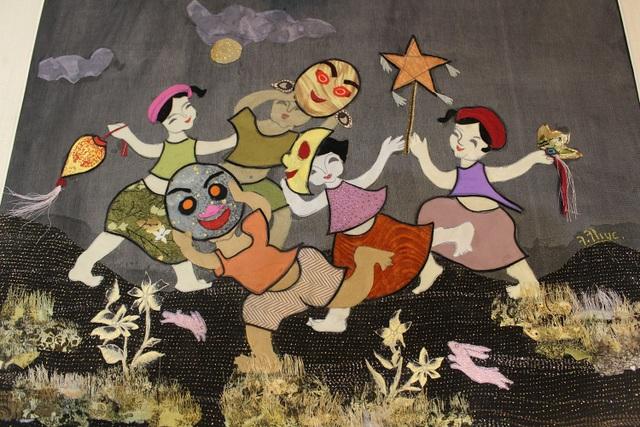 Lạ lùng cách nữ họa sỹ Hà Nội biến vải vụn thành tác phẩm nghìn đô - 9