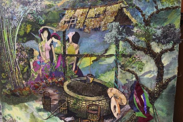 Lạ lùng cách nữ họa sỹ Hà Nội biến vải vụn thành tác phẩm nghìn đô - 8