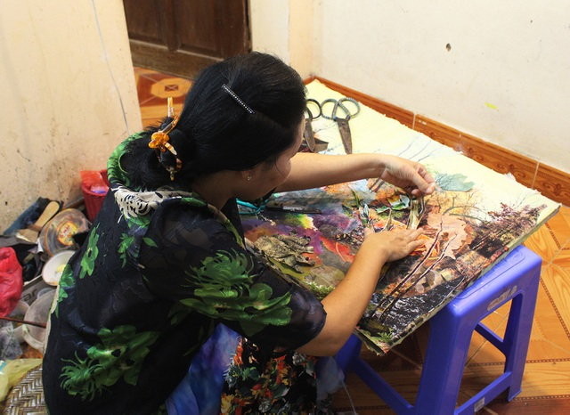 Lạ lùng cách nữ họa sỹ Hà Nội biến vải vụn thành tác phẩm nghìn đô - 6