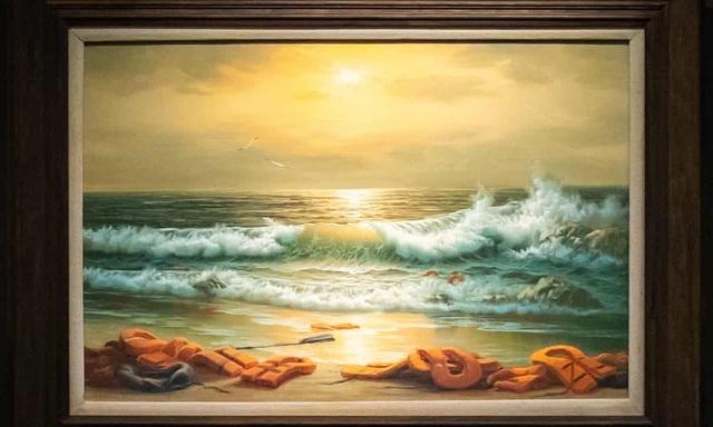 Bộ ba bức tranh khắc họa cảnh biển đạt mức giá 66 tỷ đồng - 3