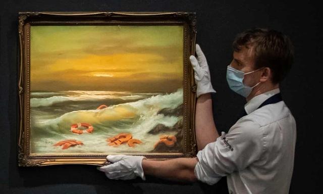 Bộ ba bức tranh khắc họa cảnh biển đạt mức giá 66 tỷ đồng - 4