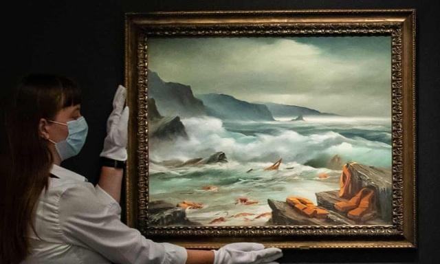 Bộ ba bức tranh khắc họa cảnh biển đạt mức giá 66 tỷ đồng - 2