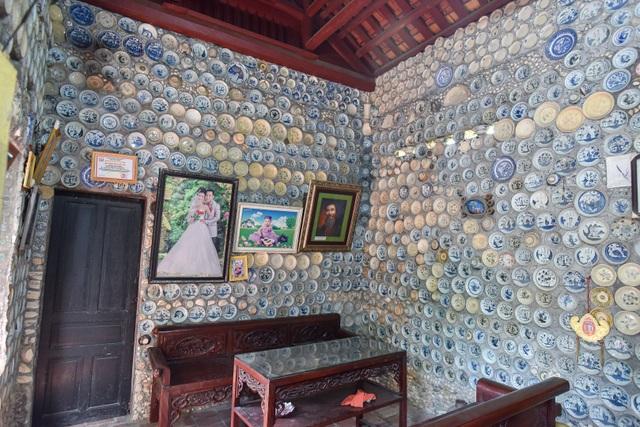 Độc nhất vô nhị ngôi nhà gắn hơn 10.000 bát, đĩa cổ ở Vĩnh Phúc - 4