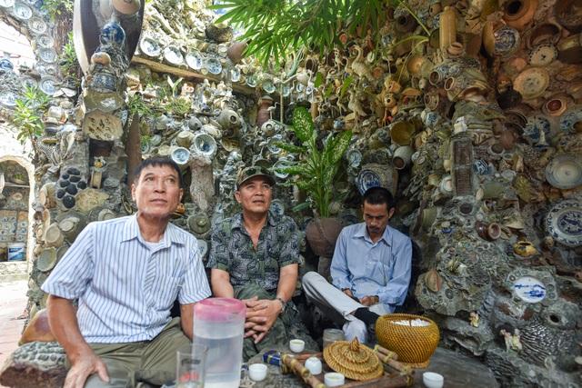 Độc nhất vô nhị ngôi nhà gắn hơn 10.000 bát, đĩa cổ ở Vĩnh Phúc - 12