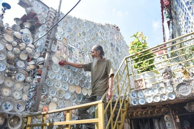Độc nhất vô nhị ngôi nhà gắn hơn 10.000 bát, đĩa cổ ở Vĩnh Phúc - 18