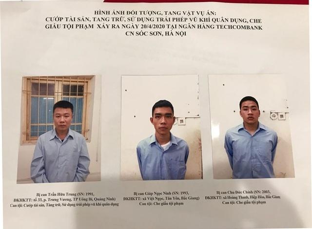 Vụ cướp ngân hàng ở Sóc Sơn: Đề nghị truy tố 3 đối tượng  - 1