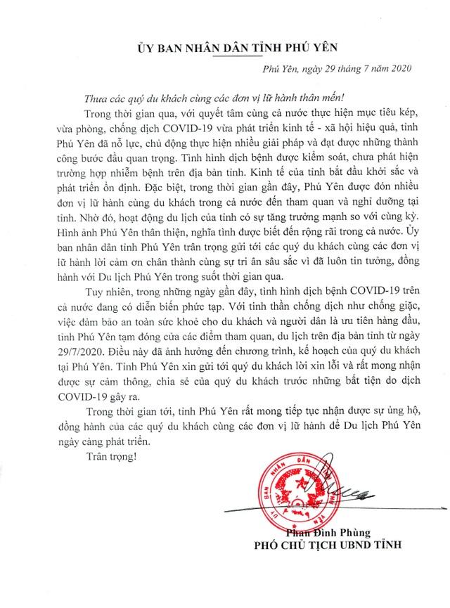 UBND tỉnh Phú Yên gửi tâm thư xin lỗi khách du lịch - 4