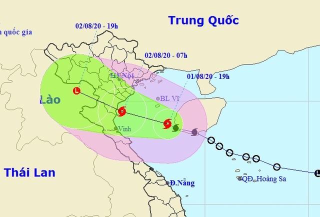 Sáng mai bão số 2 vào vùng biển ven bờ các tỉnh Thái Bình - Hà Tĩnh - 1