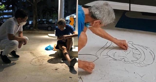 Cụ ông 77 tuổi có biệt tài biến cành cây vụn thành tranh chân dung - 1