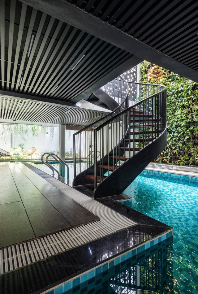 Độc đáo ngôi nhà ở Hà Nội có bể bơi dưới tầng hầm, đẹp như resort - 5