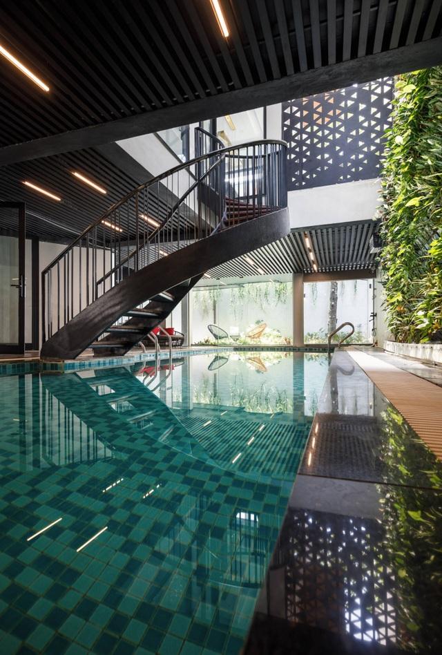 Độc đáo ngôi nhà ở Hà Nội có bể bơi dưới tầng hầm, đẹp như resort - 6