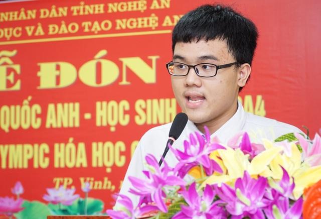 Đón nam sinh xứ Nghệ đầu tiên đạt Huy chương vàng Olympic Hóa học quốc tế - 1