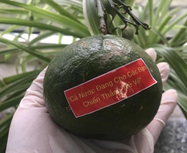 """Nhân viên y tế Đà Nẵng xúc động nhận quả cam có lời nhắn nhủ """"chờ trở về"""" - 1"""
