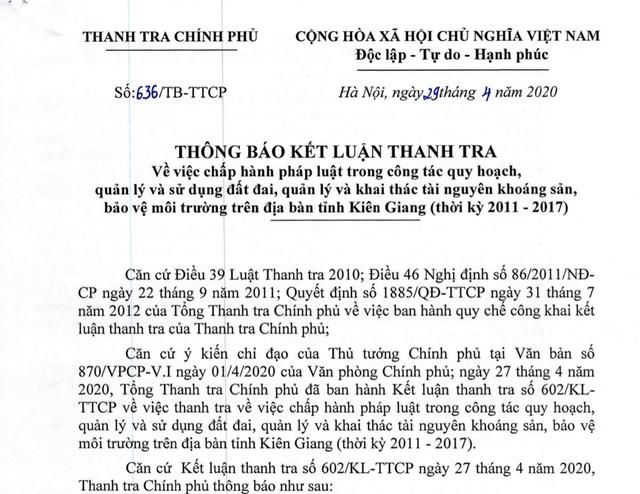 Thanh tra Chính phủ đề nghị thu hồi 43 dự án treo nhiều năm ở Phú Quốc - 1