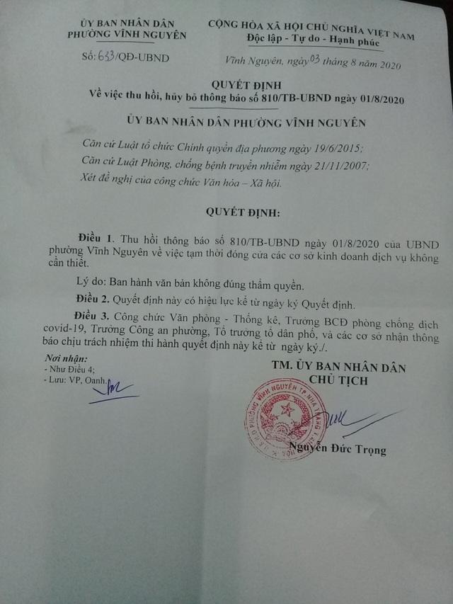 """Phó Chủ tịch phường bị """"tuýt còi"""" vì yêu cầu đóng cửa cơ sở kinh doanh - 1"""