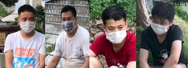 Hơn 1 giờ truy bắt nhóm người Trung Quốc nhập cảnh trái phép - 1