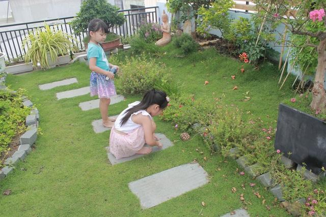 """Ông bố 2 con ở Đà Nẵng """"làm vườn, nuôi cá"""" đẹp mê trên sân thượng nhà phố - 9"""