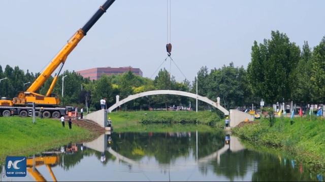 Trung Quốc xây dựng cầu in 3D dài nhất thế giới - 1