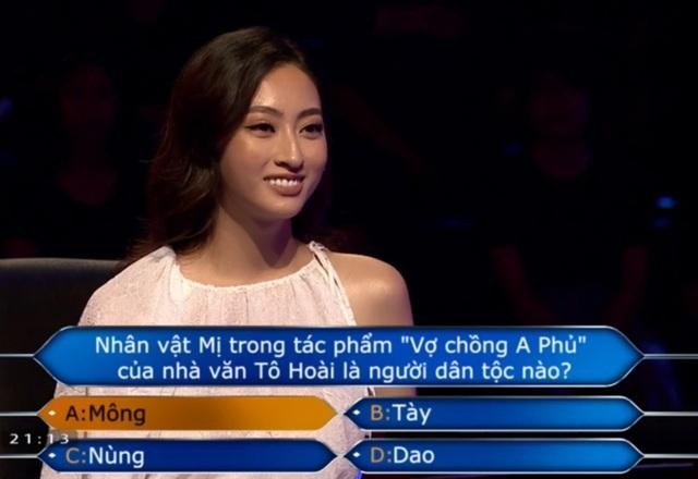 """Lương Thùy Linh bất ngờ ngồi ghế nóng thi """"Ai là triệu phú"""" - 5"""