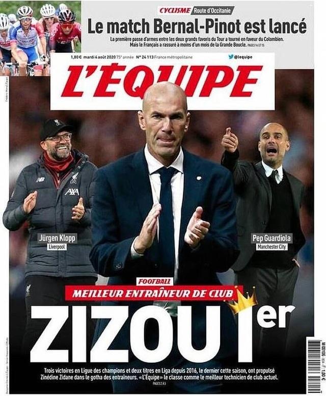 Zidane được chọn là HLV xuất sắc nhất, Mourinho bị chê bai thậm tệ - 1