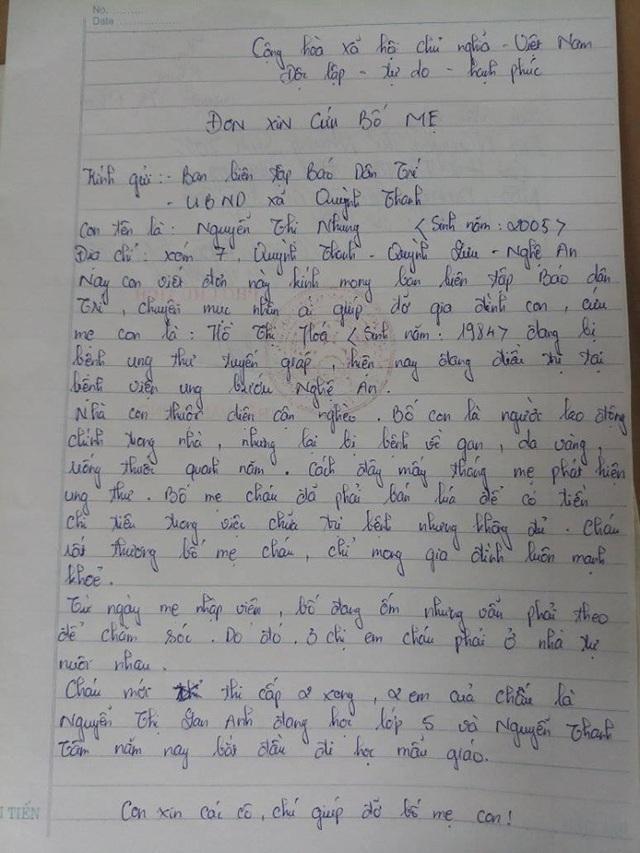 Cô gái viết thư kể gia đình bán lúa cứu mẹ, mong các nhà hảo tâm giúp đỡ - 6